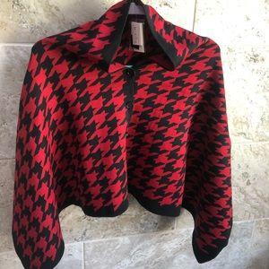OS red/black cape NWT